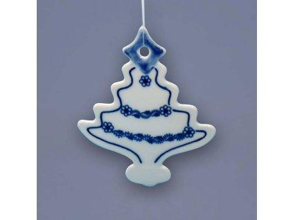 Vánoční ozdoba - stromeček - cibulový porcelán 18301