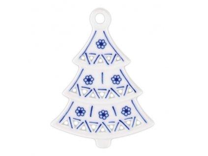 Vánoční ozdoba - stromeček prolamovaný - cibulový porcelán 10597