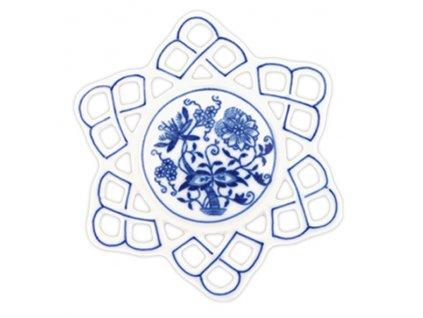 Vánoční ozdoba - vločka - cibulový porcelán 10292