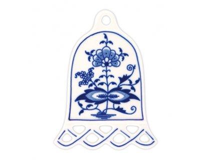 Vánoční ozdoba - zvonek - cibulový porcelán 10379