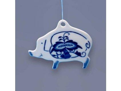 Vánoční ozdoba Prasátko - cibulový porcelán 18254-601
