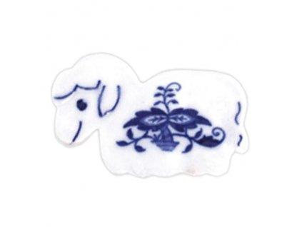 Velikonoční ozdoba - ovečka - zápich - cibulový porcelán 70676