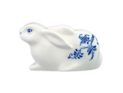 Zajíc velikonoční - ležící - cibulový porcelán 10480