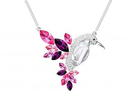 3849 8 bizuterni nahrdelnik flying gem by veronika s ceskym kristalem preciosa ruzovy
