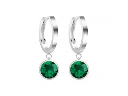 5276 stribrne nausnice lucea s kubickou zirkonii preciosa emerald