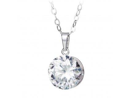 4776 1 stribrny privesek starry s kubickou zirkonii preciosa krystal