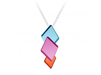 5267 ocelovy nahrdelnik fragmentum s ceskym kristalem preciosa maly