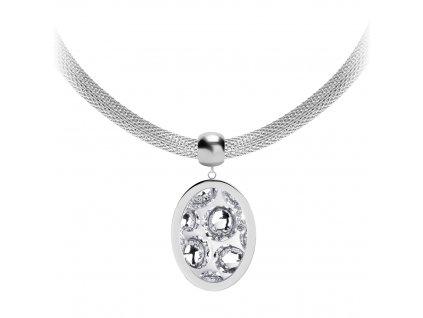 4638 2 nahrdelnik z chirurgicke oceli idared s rucne mackanym kamenem preciosa krystal