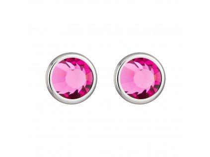 5444 ocelove nausnice carlyn s ceskym kristalem preciosa roza