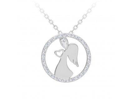 5150 2 stribrny medailon angelic love s kubickou zirkonii preciosa