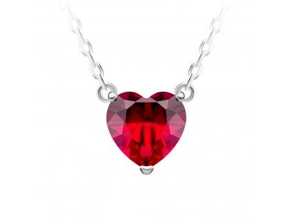 4542 3 stribrny nahrdelnik cher srdce s kubickou zirkonii preciosa rudy