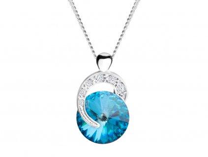 3909 2 stribrny privesek gentle beauty s ceskym kristalem preciosa modry