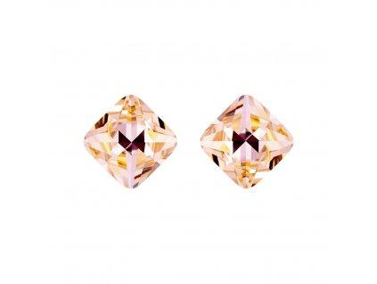 5375 stribrne nausnice optica s ceskym kristalem preciosa sv broskev