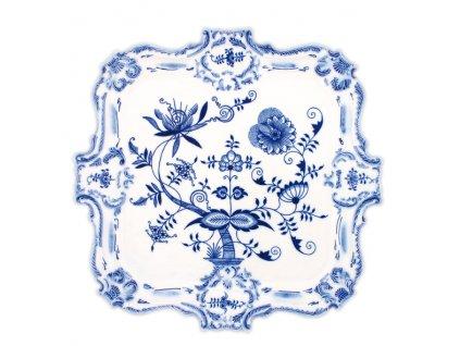 Podnos reliéfní - cibulový porcelán 10402 II. j.