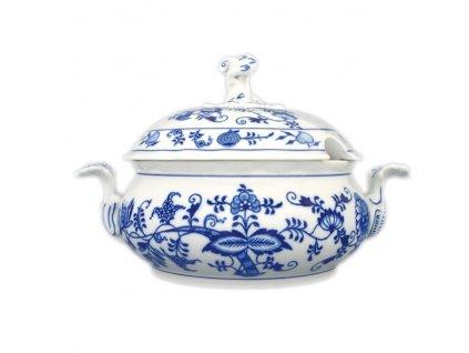 Mísa zeleninová kulatá s víkem s výř. - cibulový porcelán 70527 II.j.