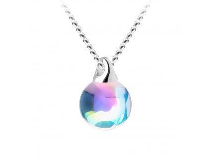 5845 stribrny privesek aquila s ceskym kristalem preciosa