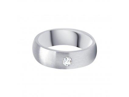 6070 prsten basic z chirurgicke oceli s kubickou zirkonii preciosa