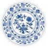 Talíř klubový - cibulový porcelán 10045