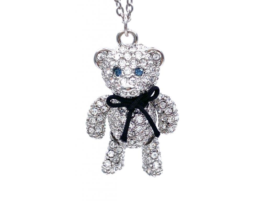 Přívěsek Medvídek s ocelovým řetízkem
