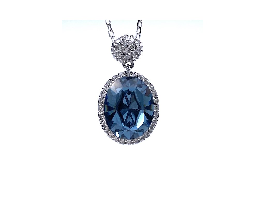 Stříbrný přívěsek Sapphire