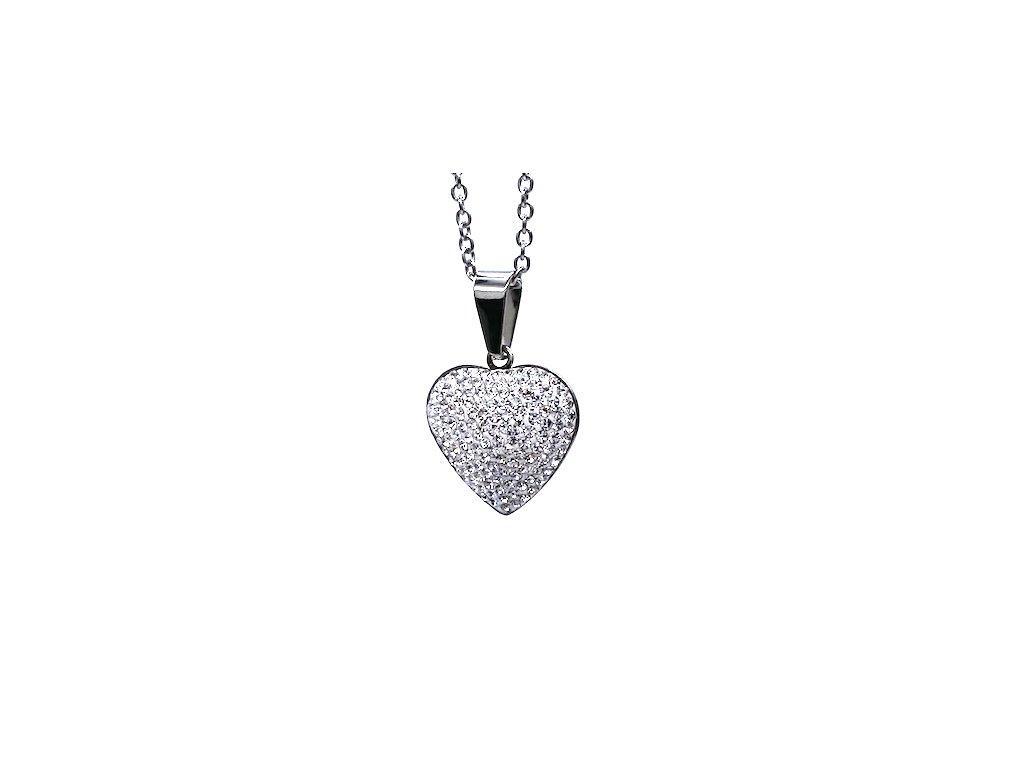 Ocelový přívěsek Srdce s ocelovým řetízkem