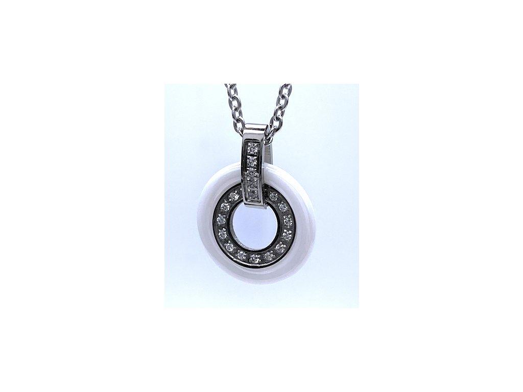 Ocelový přívěsek Kruh s ocelovým řetízkem
