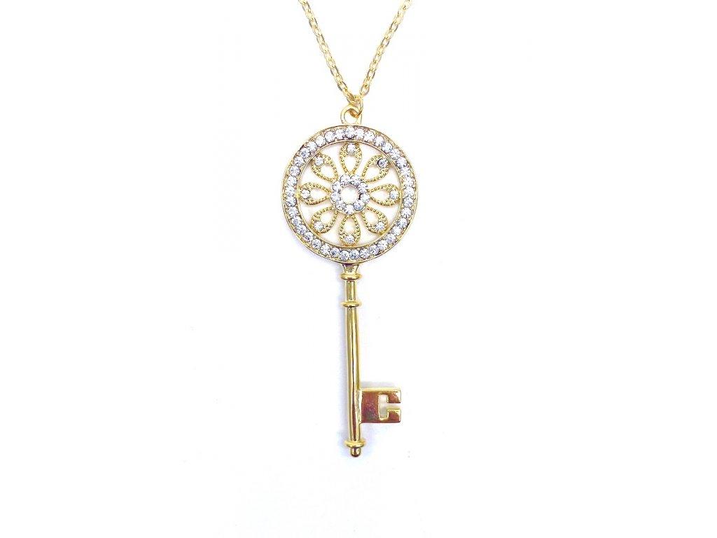 Přívěsek Klíč zlaté barvy