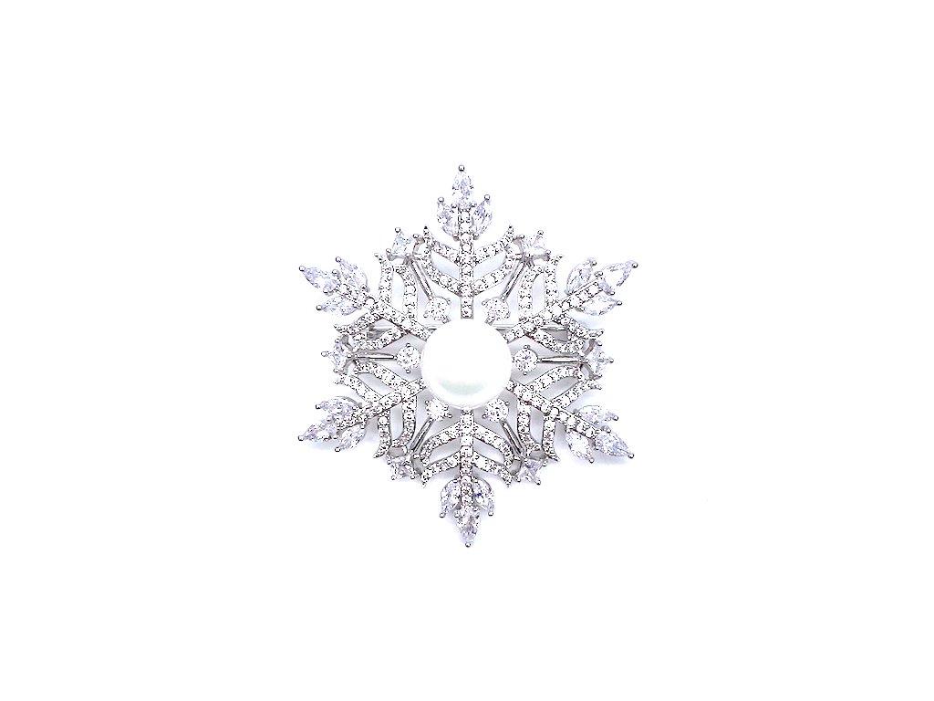 Brož Sněhová Vločka