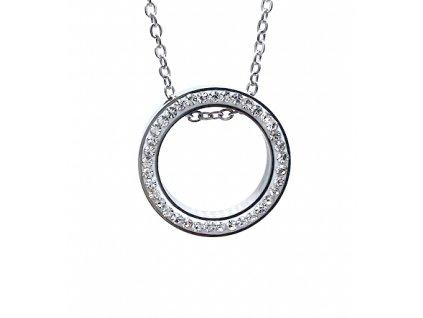 Ocelvý přívěsek Kruh s ocelovým řetízkem