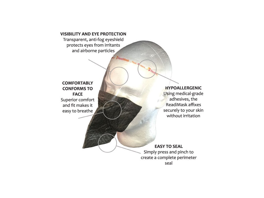 SABRE ReadiMask Paprika spray elleni maszk - szürke
