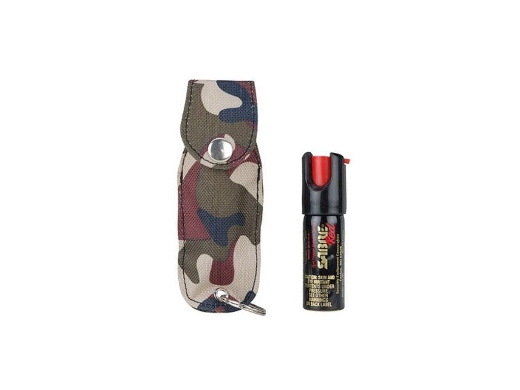 SABRE RED Paprika spray .54 oz kulcstartóval, terepszínű tokkal