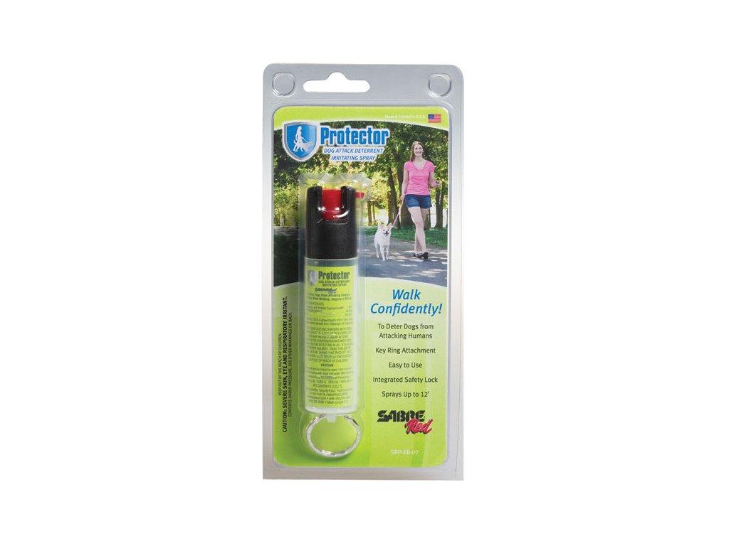 SABRE RED Paprika spray Protector kulcs karikával - Zöld