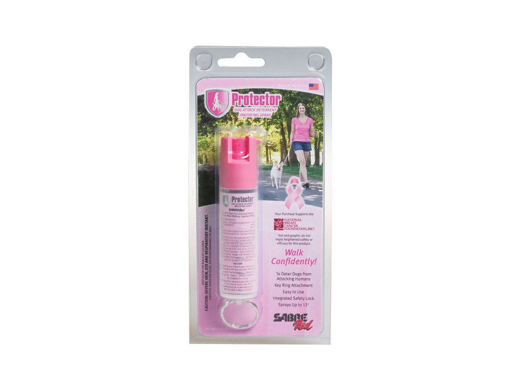 SABRE RED Paprika spray Protector .75 oz kulcs karikával - Rózsaszín