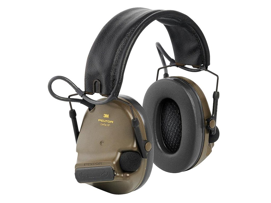 3M™ PELTOR™ ComTac XPI Headset, 28 dB, Zöld, fejpántos