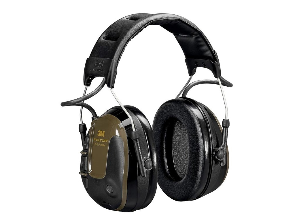 3M™ PELTOR™ ProTac™ Hunter Headset, 26 dB, Zöld, Fejpántos