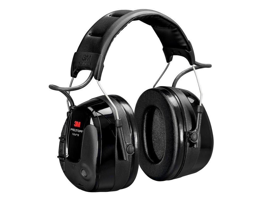 3M™ PELTOR™ ProTac™ III Headset, 32 dB, Fekete, Fejpántos