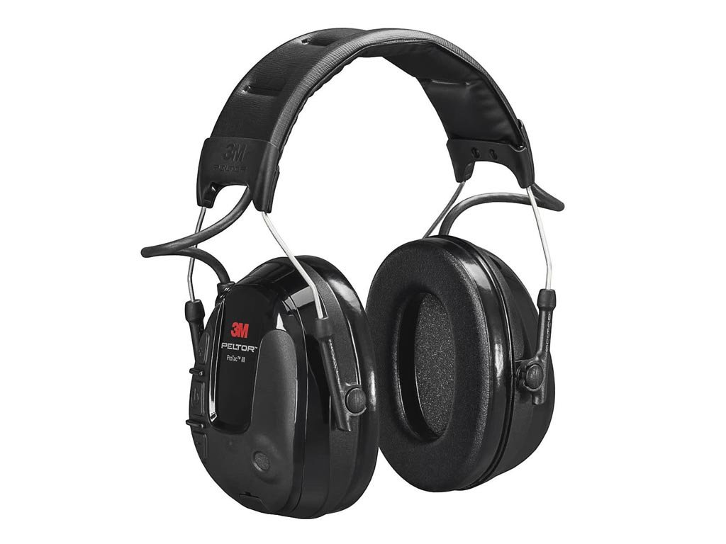 3M™ PELTOR™ ProTac™ III keskeny Headset, fekete, fejpánttal