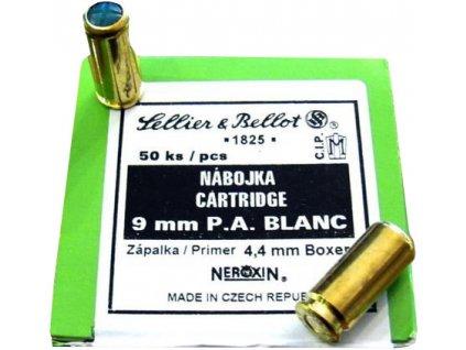 náboj 9mm pa blanc