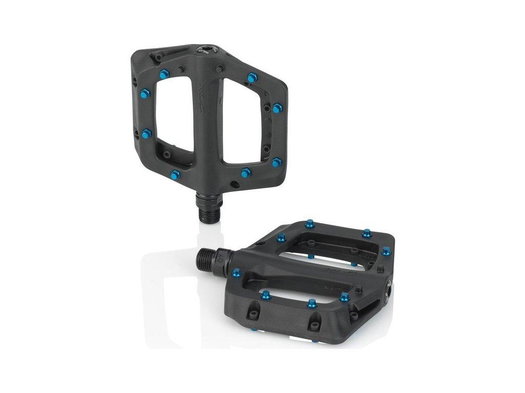 XLC Plattform-pedál PD-M23 cerná/modrá