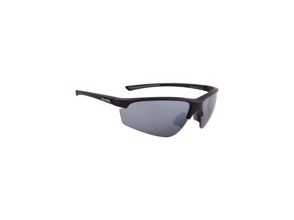 8ad0d280b Cyklistické okuliare Alpina TRI-EFFECT 2.0 čierne matné | cShop.sk