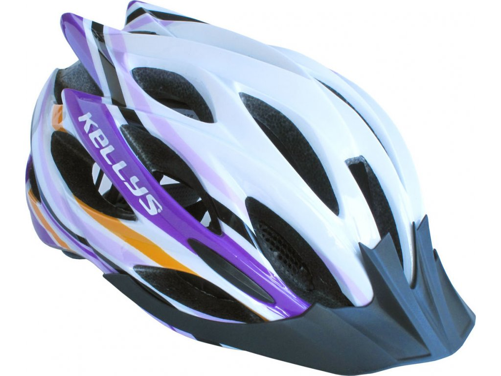 Prilba Dynamic white-alpine purple M/L