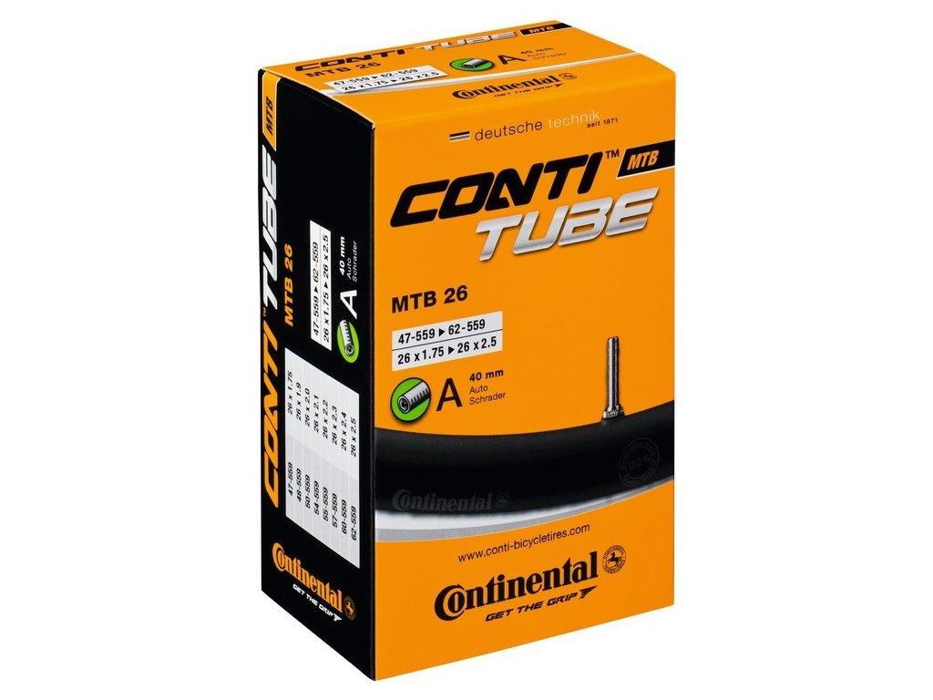 """Duša Continental MTB 26x1.75/2.30"""" 47/62-559, AV 40mm"""
