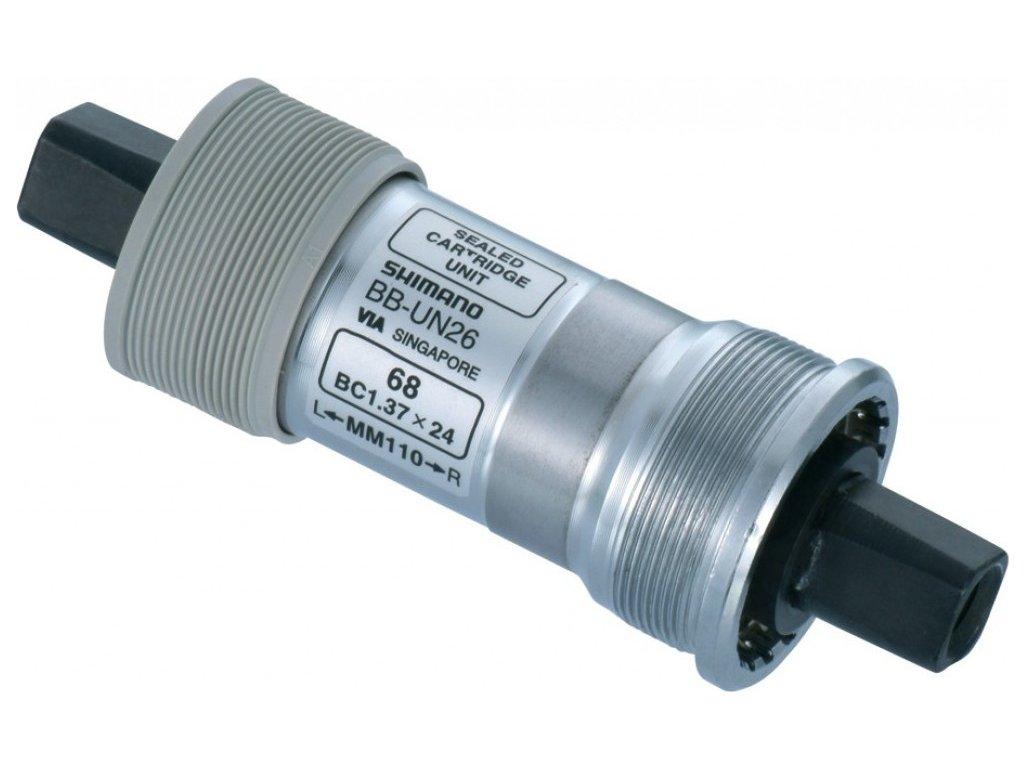 Stredové zloženie Shimano BB-UN 26 68/110 mm 4-hran, zapúzdrené