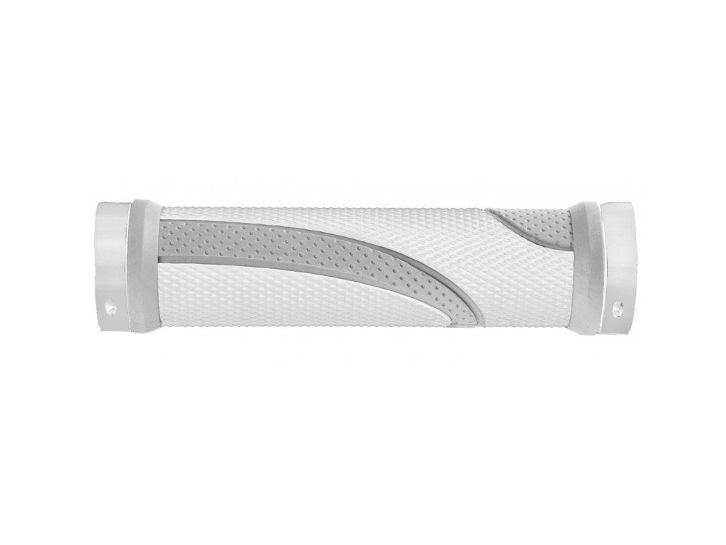 gripy M-Wave šedo-bílé 2xFIX objímka