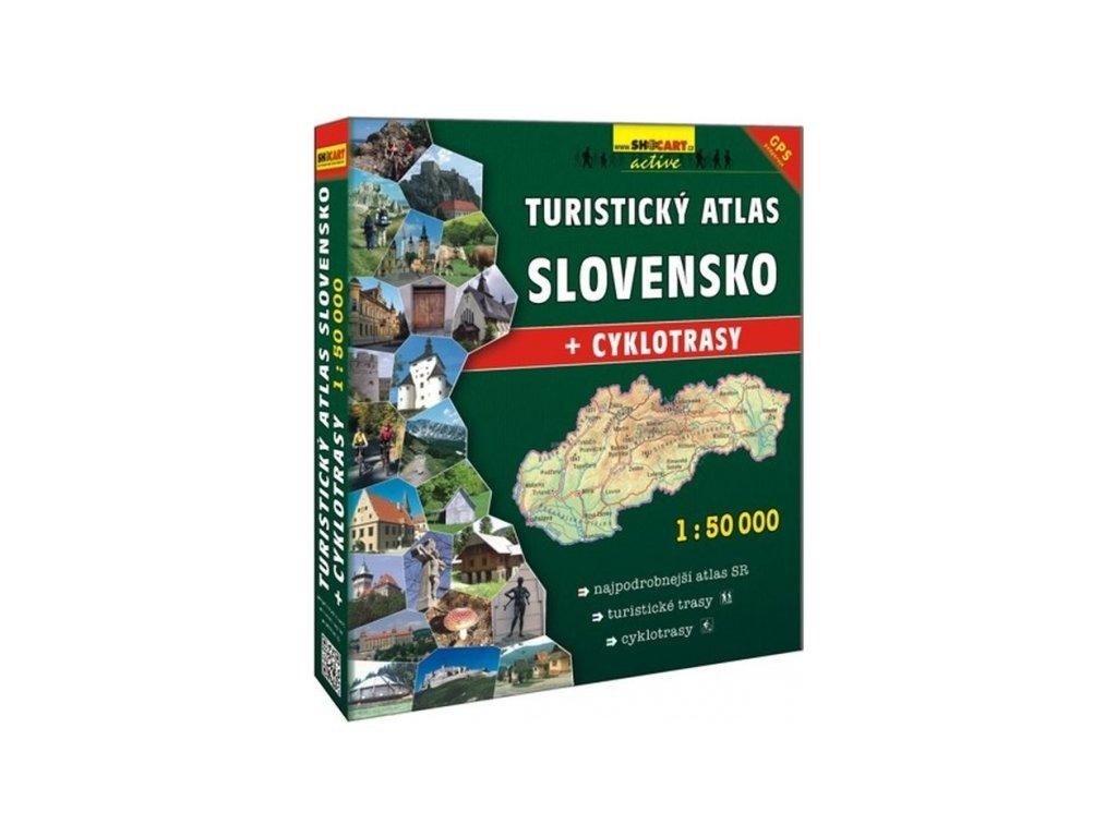 mapa turistický atlas Slovensko 1:50 šanon