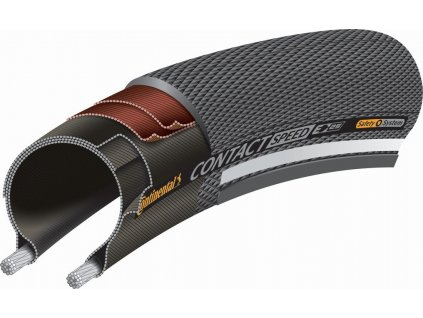 """Plášt Conti Contact Speed Reflex 20x1.10"""" 28-406 čierna Skin"""