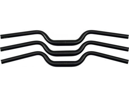 Rídítka Ergotec M-Bar M Al, Ø 31,8mm, 700mm, cerná/matná, 16°