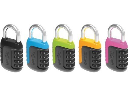 Závesný kombinacní zámek Onguard Neon 8243 Ø 8mm,barevne setrídené,min balení6