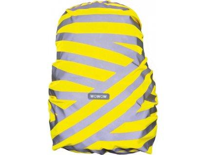 Obal na batoh Wowow Berlin stríbrná reflexní proužky žlutá