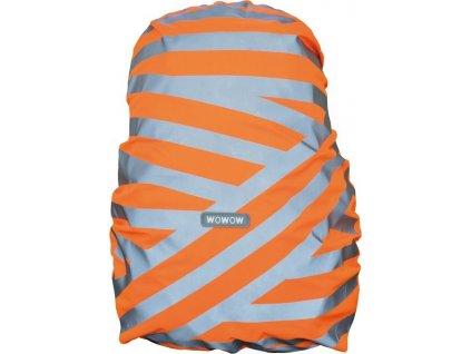Obal na batoh Wowow Berlin stríbrná reflexní proužky oranžová